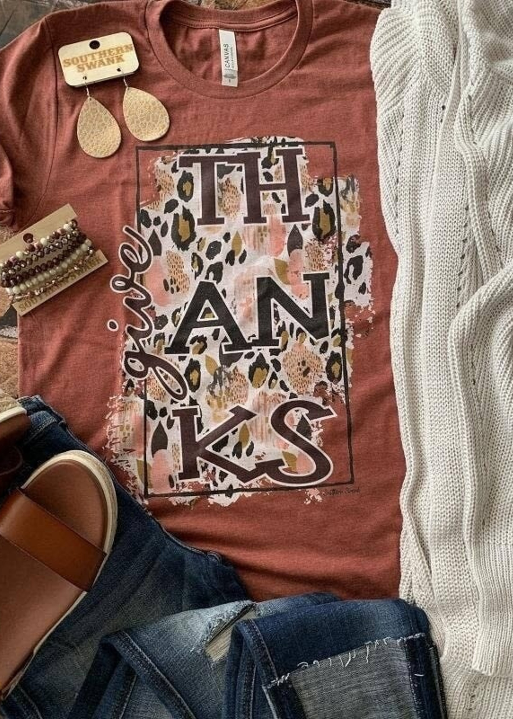 Southern Swank Give Thanks Tee