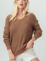 Open Back Knot Sweater(Camel)