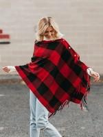 Buffalo Plaid Scarf Wrap Red/Black
