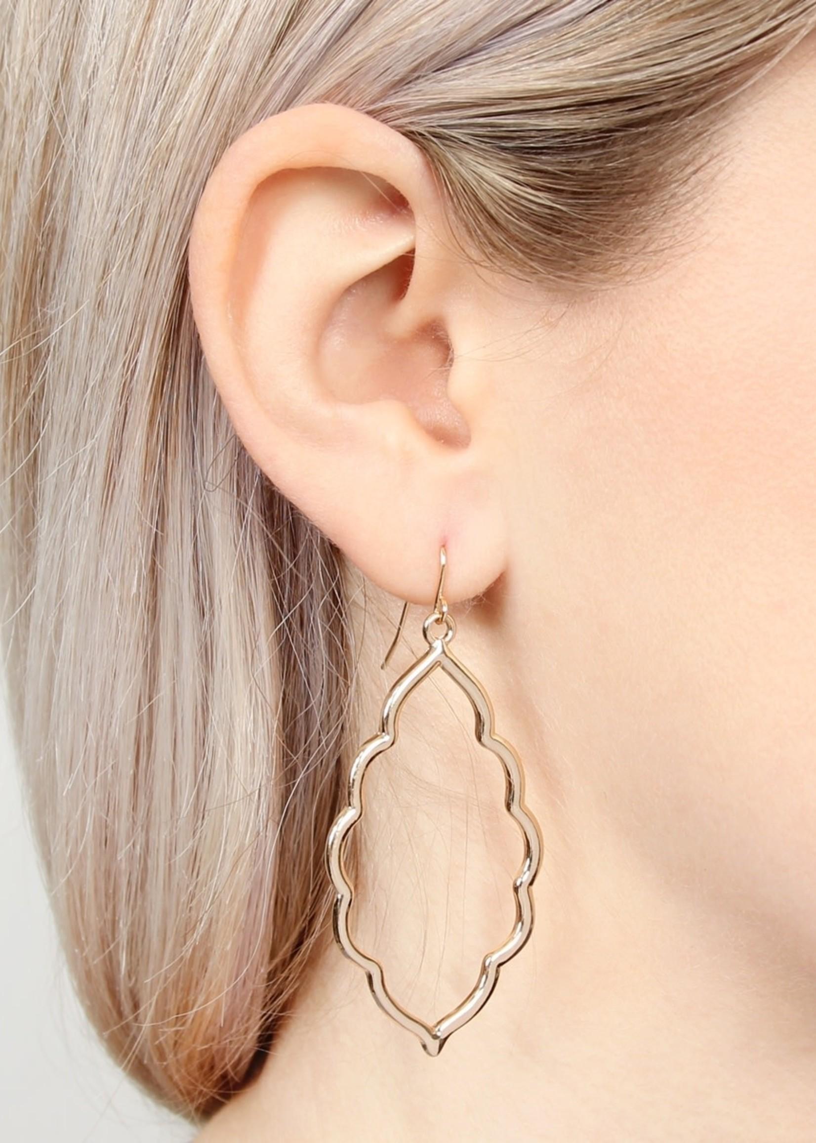 Moroccan Cutout Earring