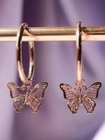 Delicate Rose Gold Butterfly Drop earring