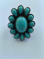 Turquoise Concho Stretchy Ring