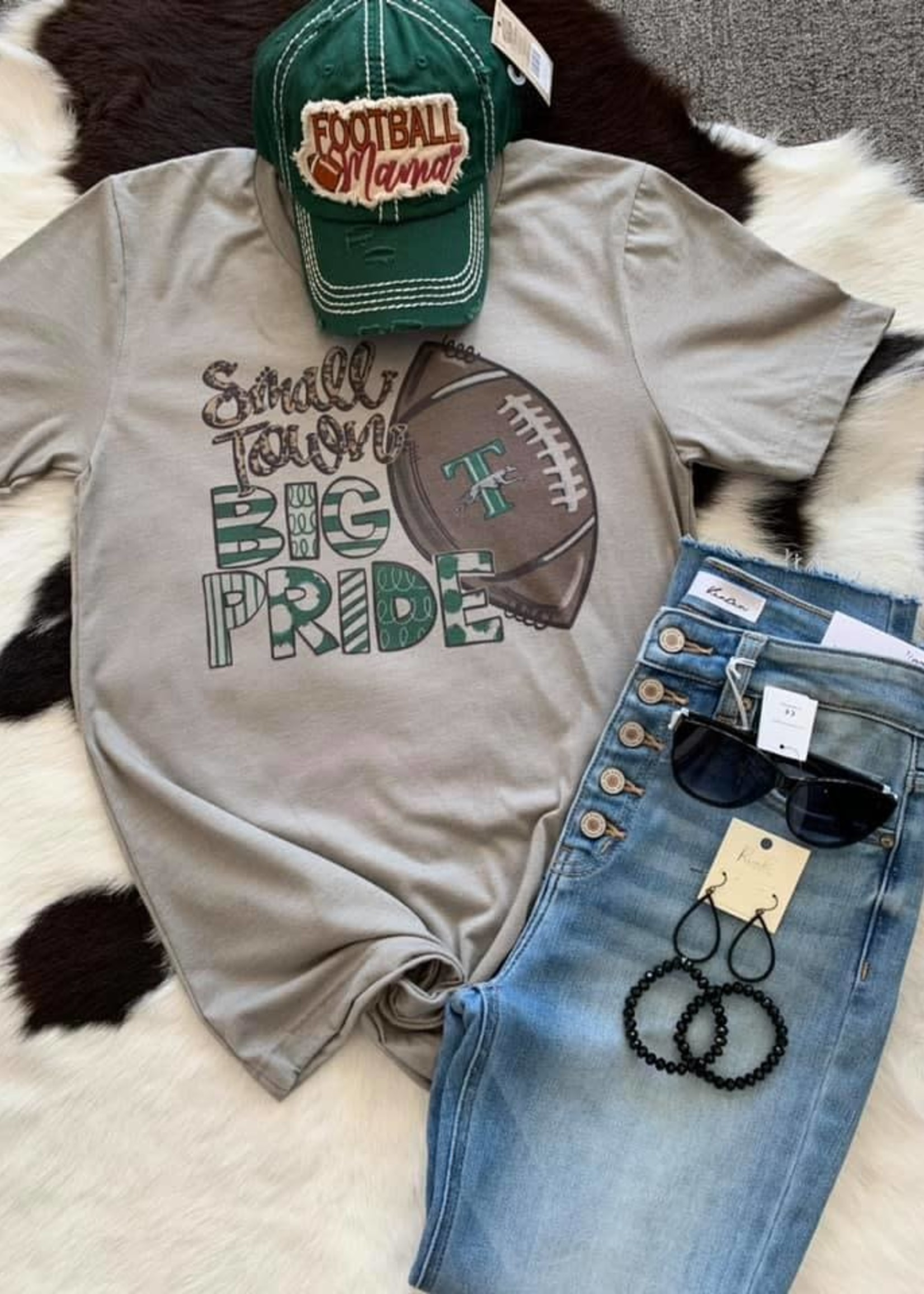 Empty Nest Creations Small Town Big Pride tee