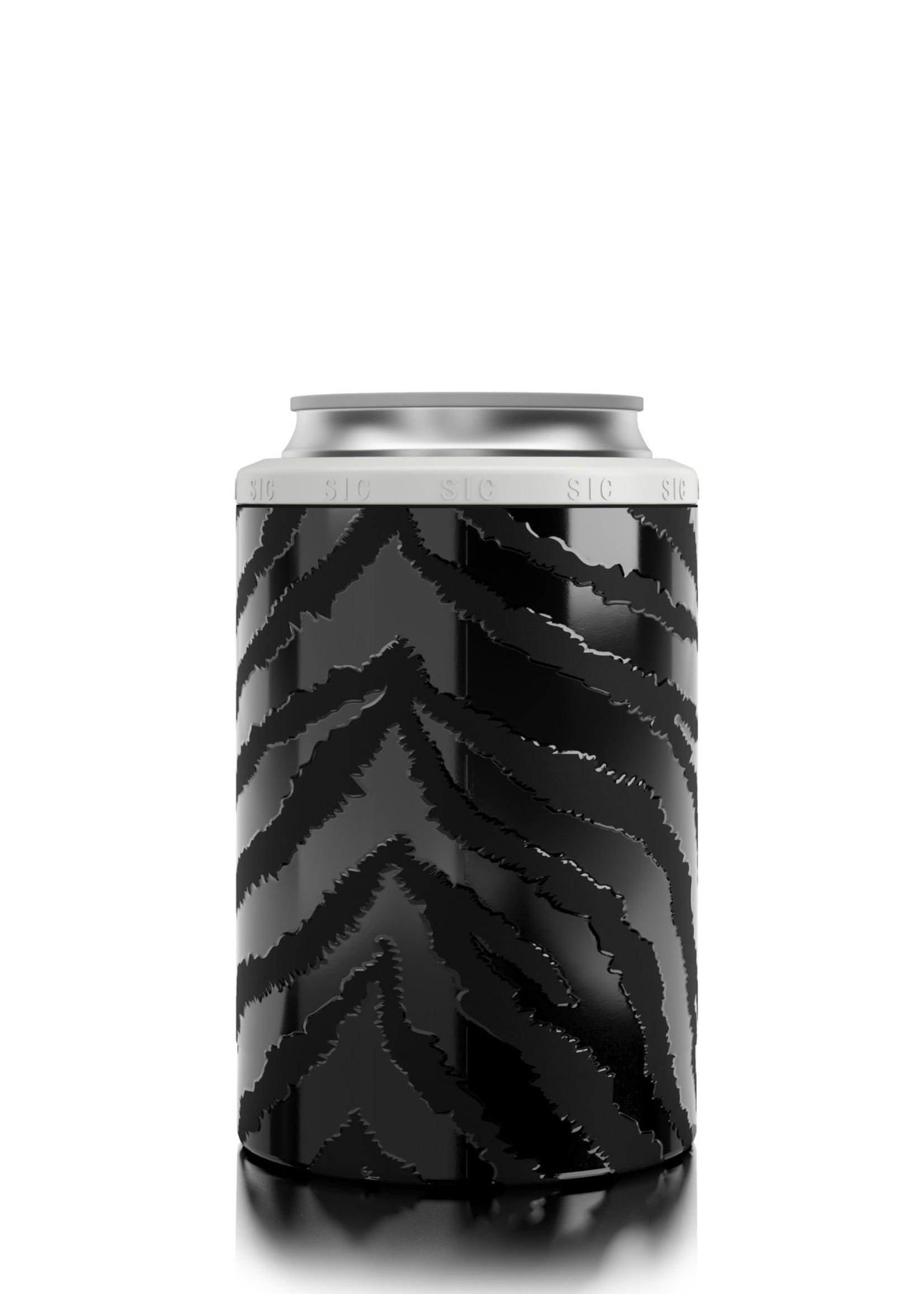 SIC CUPS 12 OZ Can Cooler Zebra Eclipse