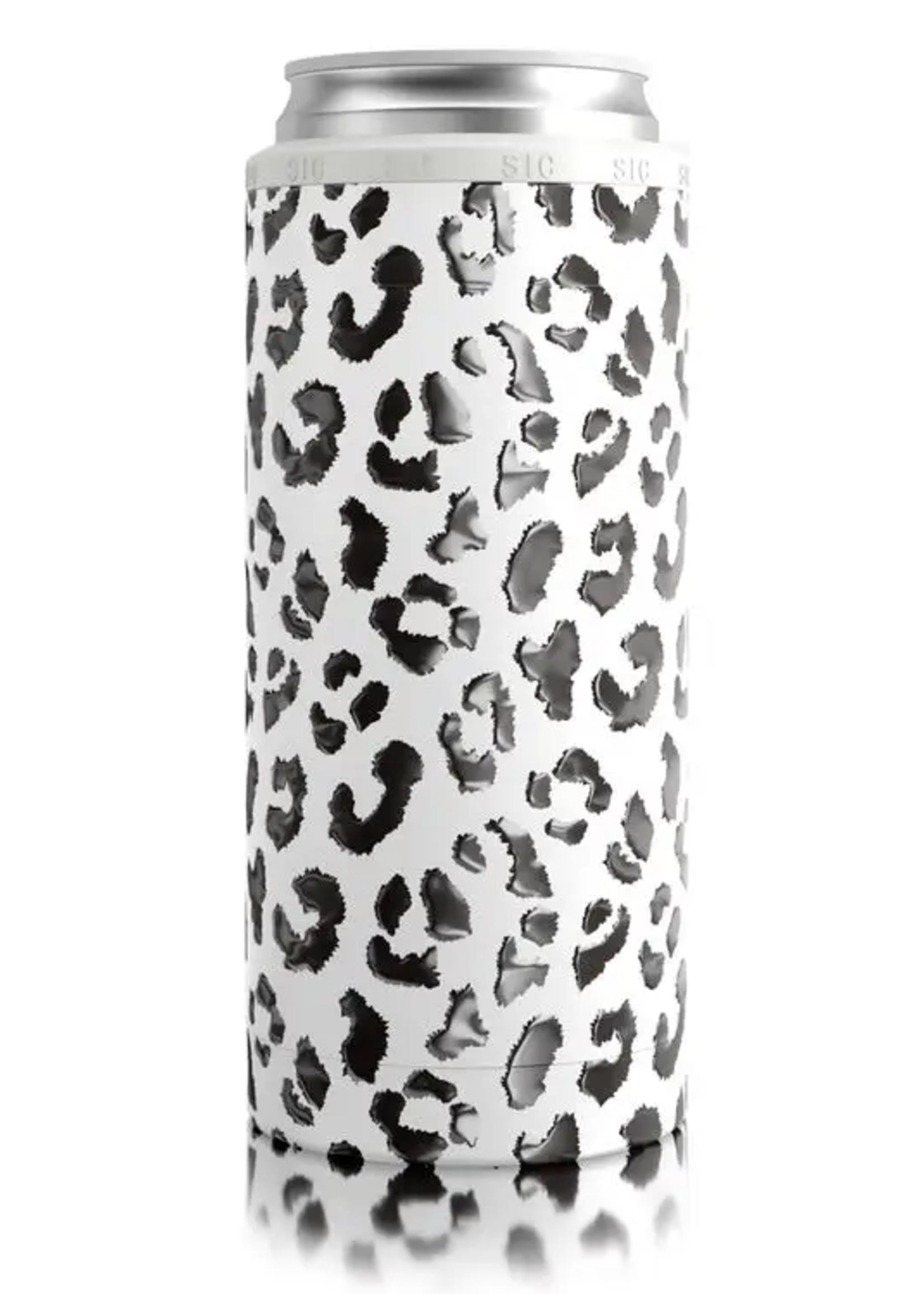 SIC CUPS Slim Can Cooler Leopard