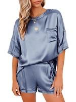 Short Sleeve Silk Pajamas