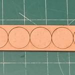 "Pair of 25mm ""Oathmark"" Single Rank 5 Figure Tray - Rounds"