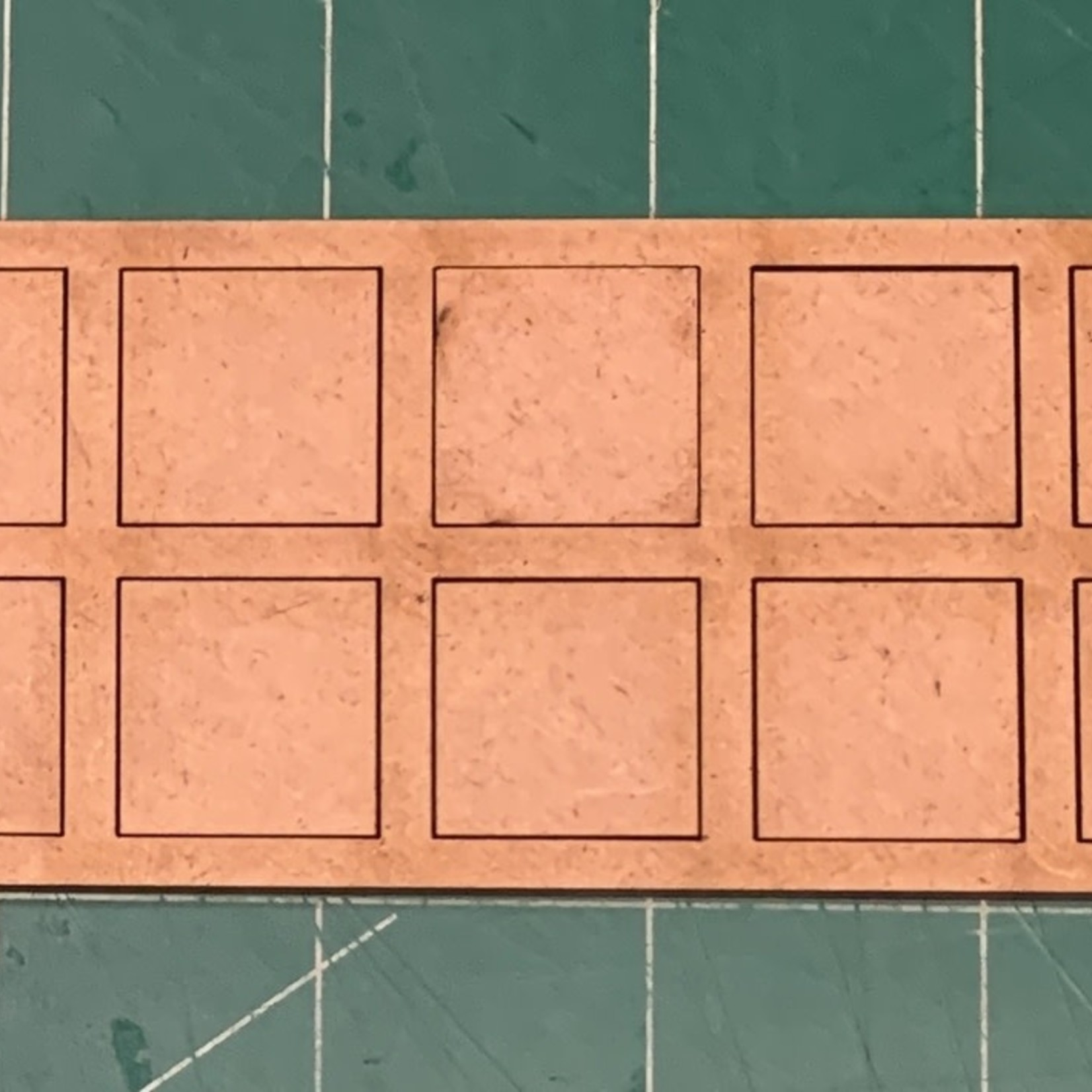 """Pair of 20mm """"Oathmark"""" Double Rank 10 Figure Tray - Squares"""