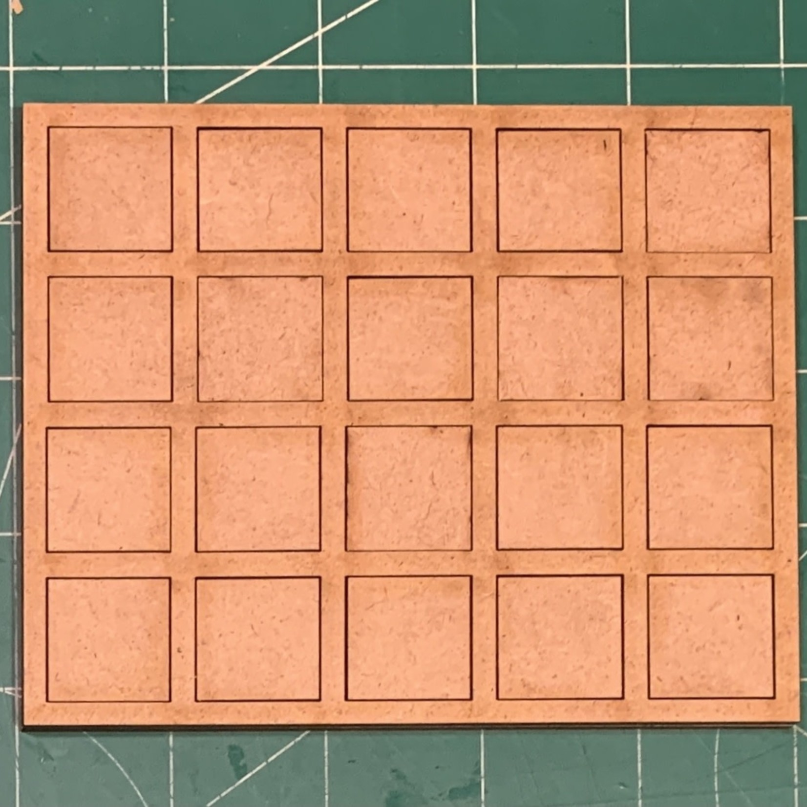 """Pair of 20mm """"Oathmark"""" Quad Rank 20 Figure Tray - Squares"""