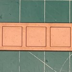 """Pair of 20mm """"Oathmark"""" Single Rank 5 Figure Tray - Squares"""