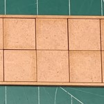 """Pair of 25mm """"Oathmark"""" Double Rank 10 Figure Tray - Squares"""