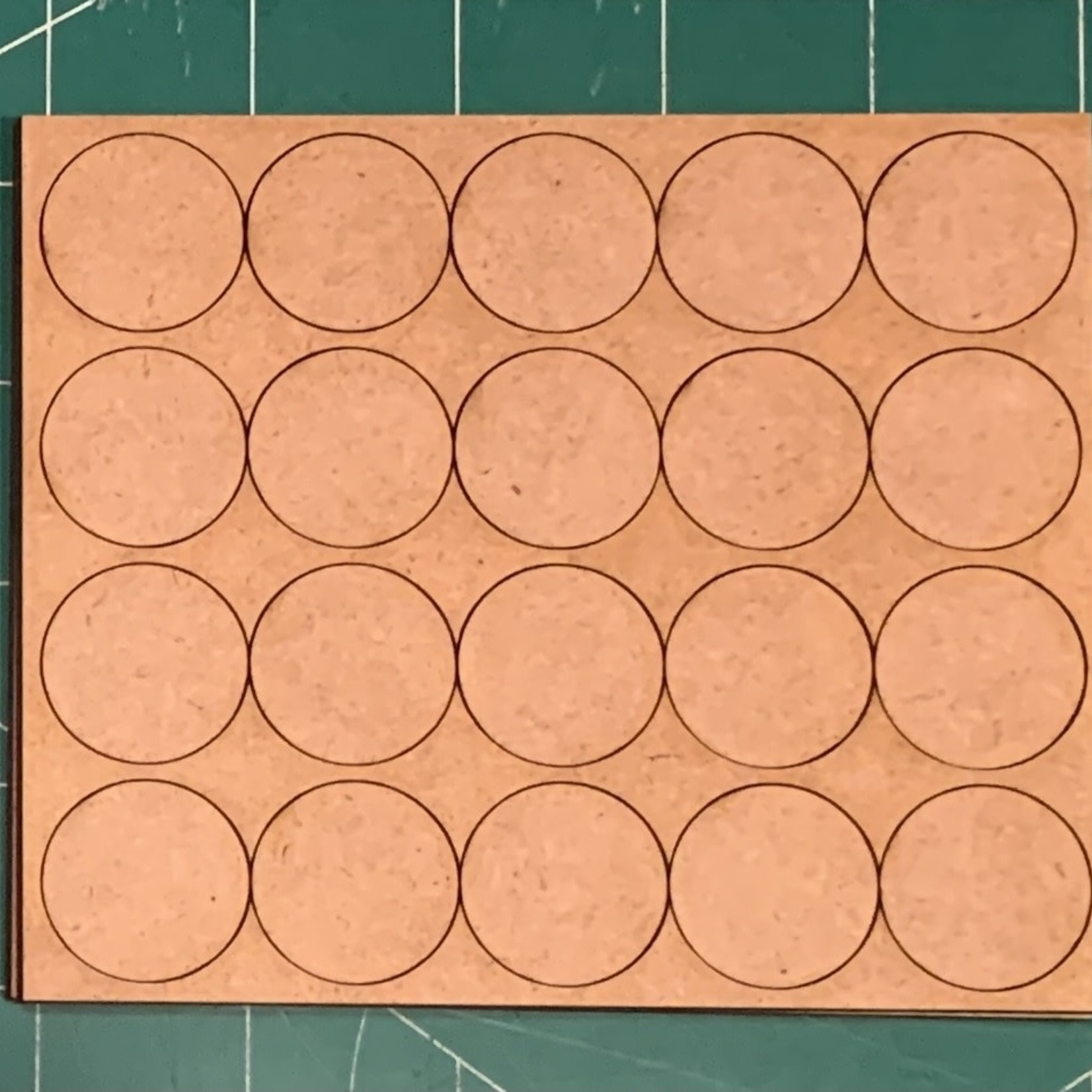 """Pair of 25mm """"Oathmark"""" Quad Rank 20 Figure Tray - Rounds"""