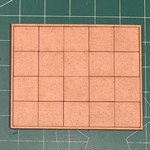 """Pair of 25mm """"Oathmark"""" Quad Rank 20 Figure Tray - Squares"""