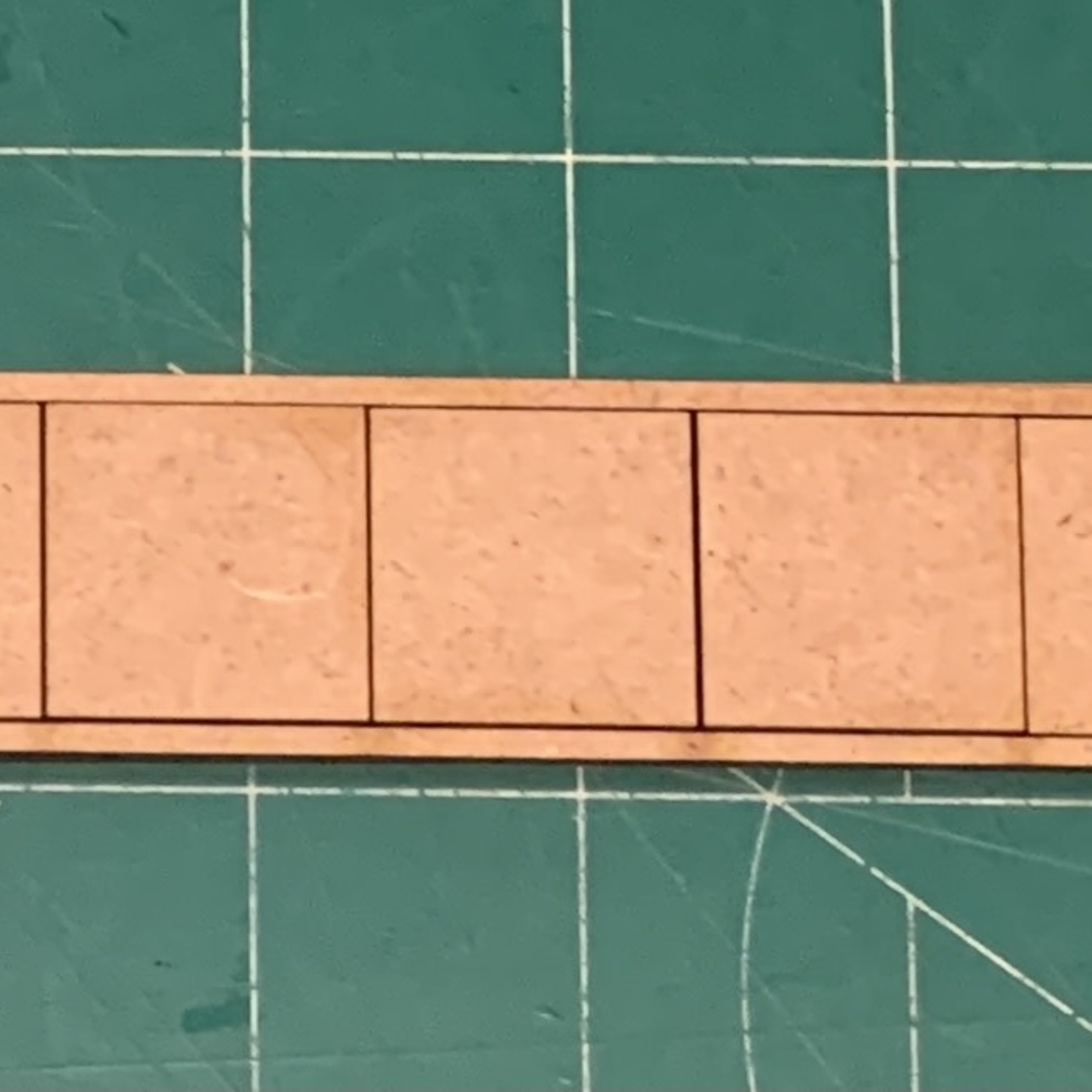 """Pair of 25mm """"Oathmark"""" Single Rank 5 Figure Tray - Squares"""