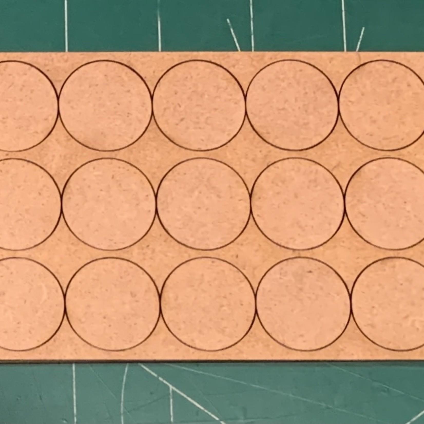 "Pair of 25mm ""Oathmark"" Triple Rank 15 Figure Tray - Rounds"