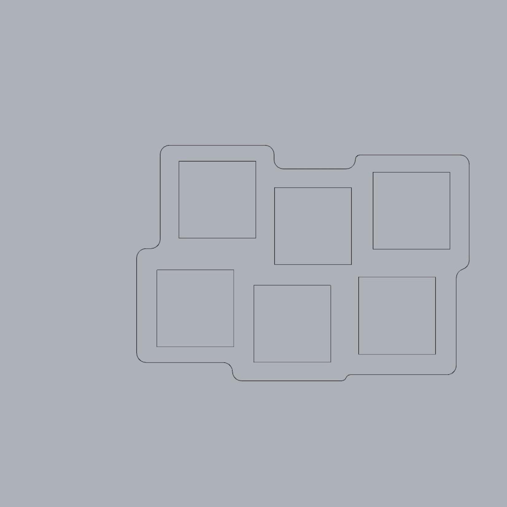 Pair of 25mm Square Skirmish 6 Figure Tray