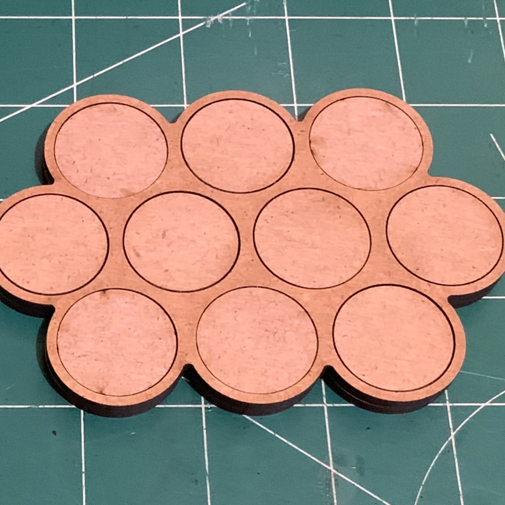 Pair of 25mm Ten(10) Figure Movement Tray -3/4/3