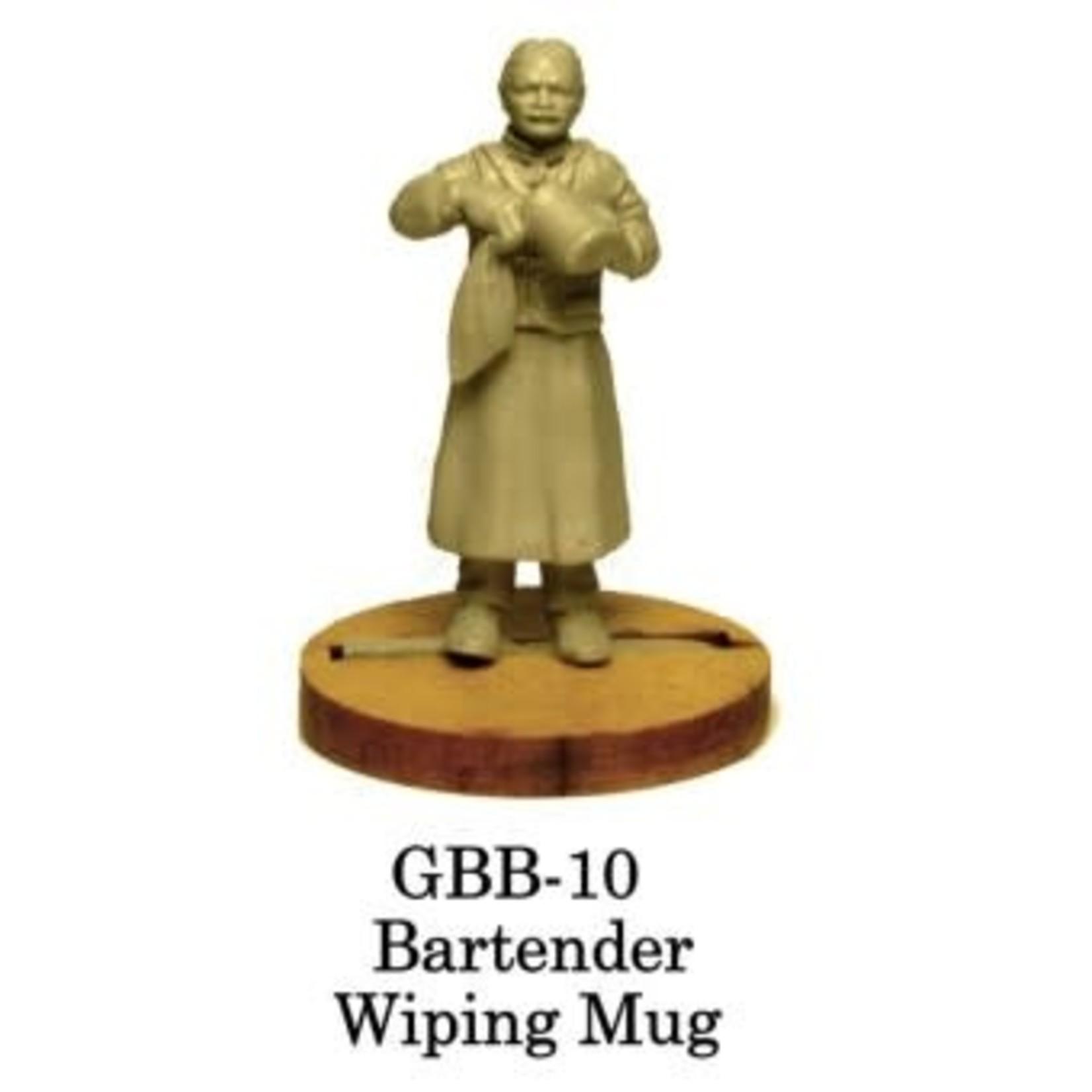 Bartender Wiping Mug