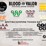 Blood and Valor British Wheel/Token Set