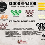 Blood and Valor French Wheel/Token Set