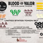 Blood and Valor U.S. Wheel/Token Set