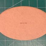 Oval 105 x 170mm MDF Base