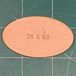 Oval 35 x 60mm MDF Bases (x2)