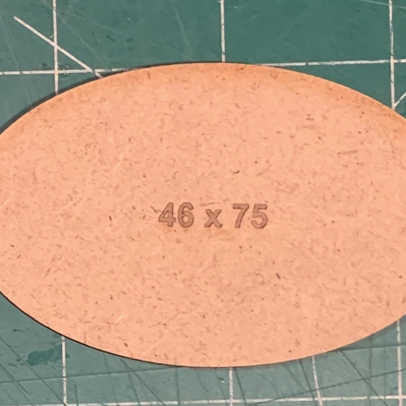 Oval 46 x 75mm MDF Bases (x2)