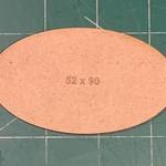 Oval 52 x 90mm MDF Base (x2)