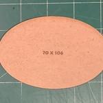 Oval 70 x 106mm MDF Base