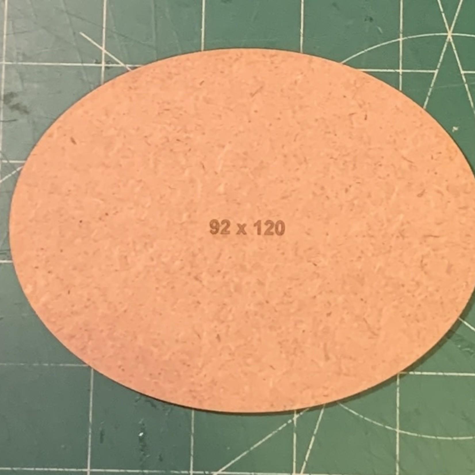 Oval 92 x 120mm MDF Base