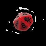 Set of 6 Blood D10 Dice