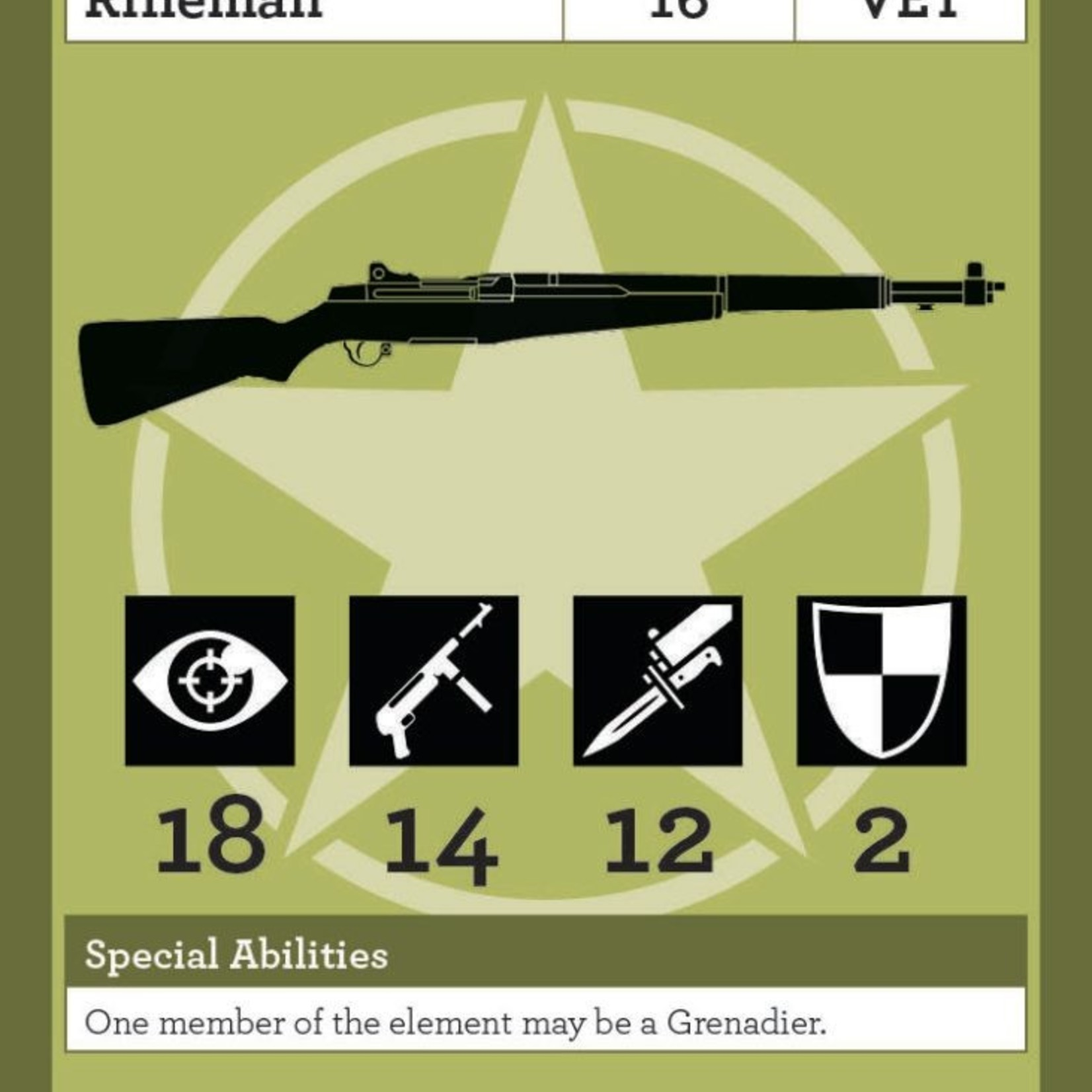 ULTRACOMBAT Normandy Allied Infantry Deck