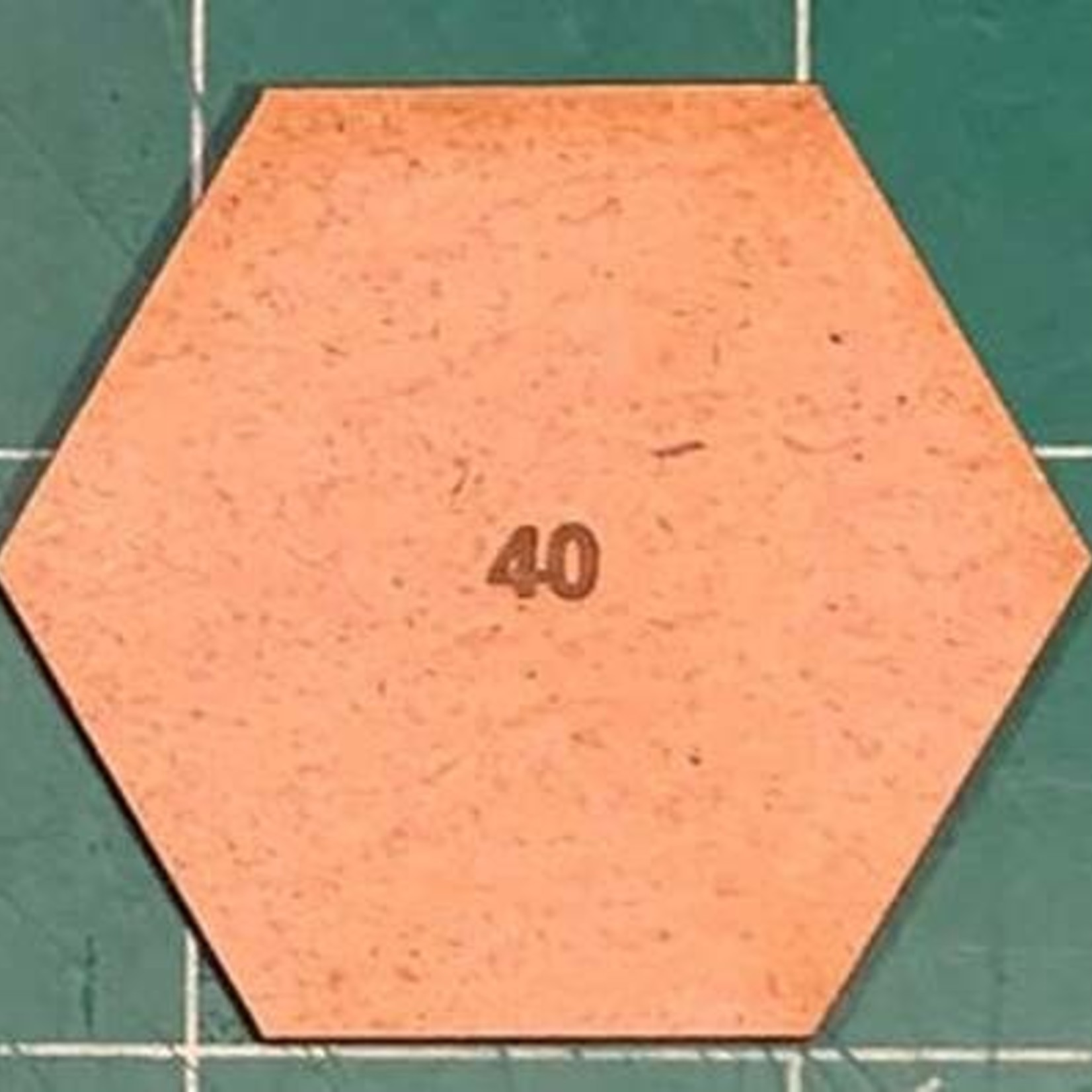 Hexagon 40mm MDF Bases