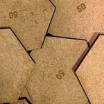 Hexagon 50mm MDF Bases