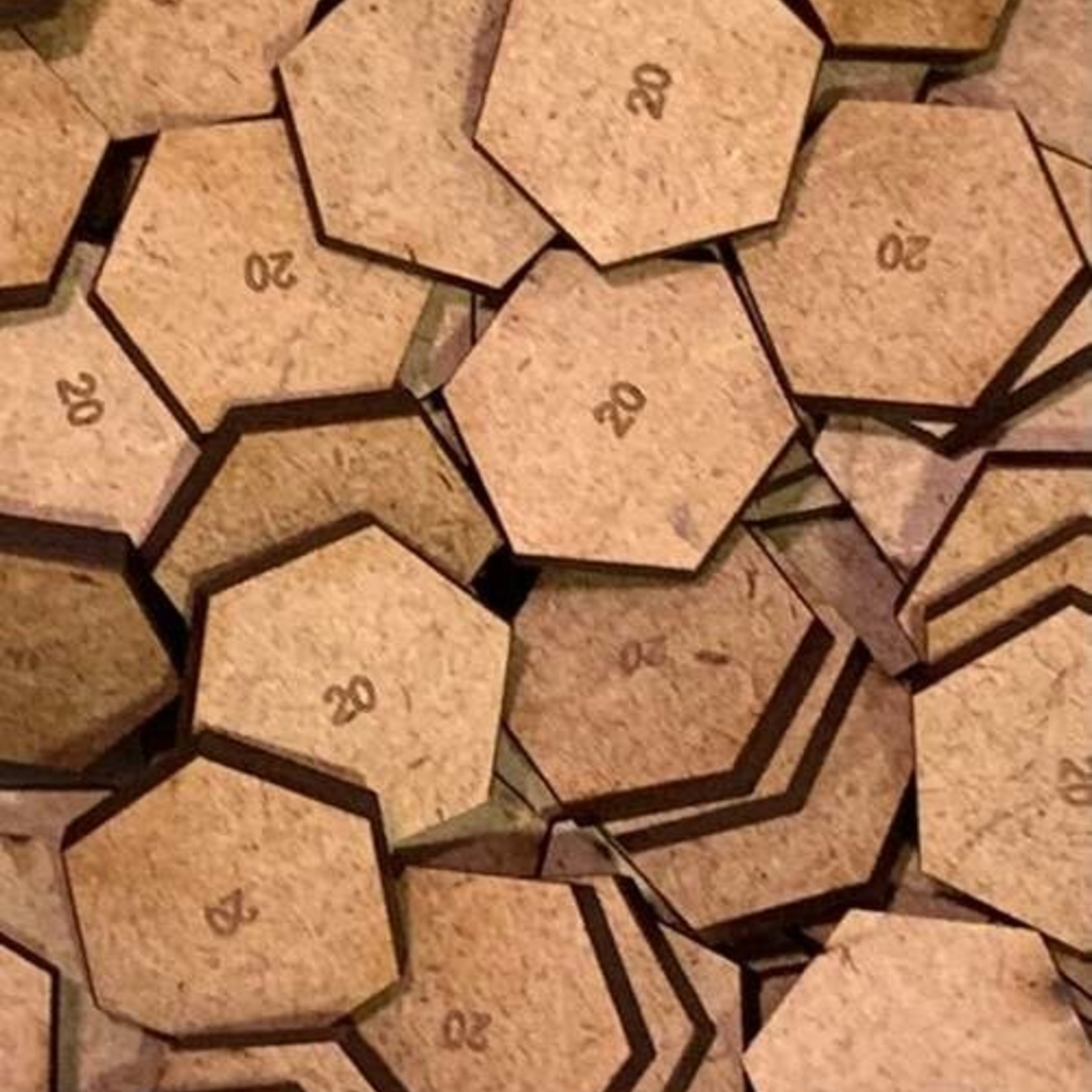Hexagon 20mm MDF Bases
