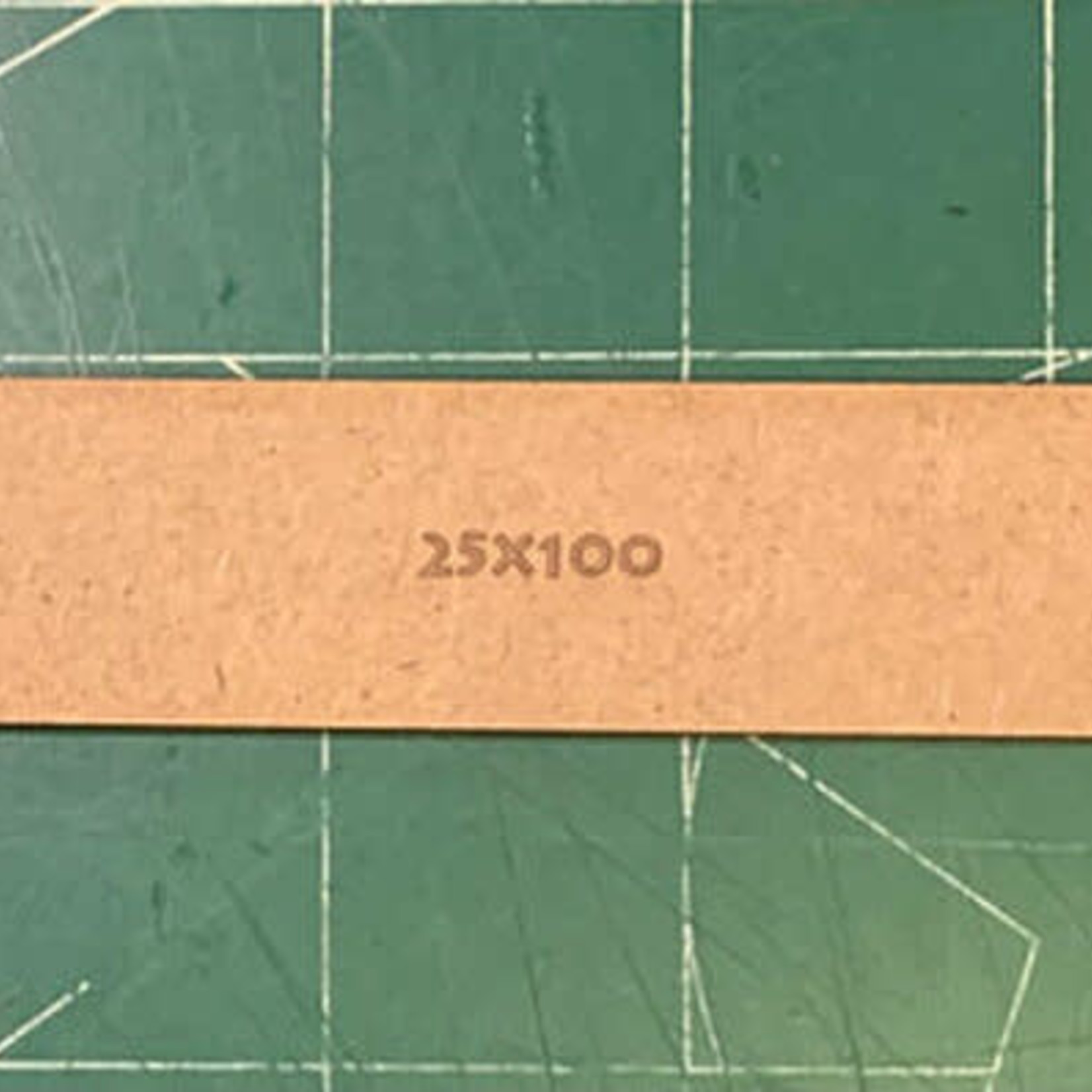 Rectangle 25 x 100mm MDF Bases
