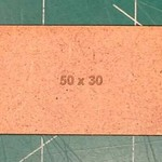 Rectangle 30 x 50mm MDF Bases