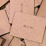Rectangle 38 x 50mm MDF Bases