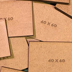 Rectangle 40 x 60mm MDF Bases