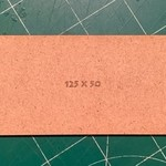 Rectangle 50 x 125mm MDF Bases