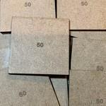 Square 50mm MDF Bases