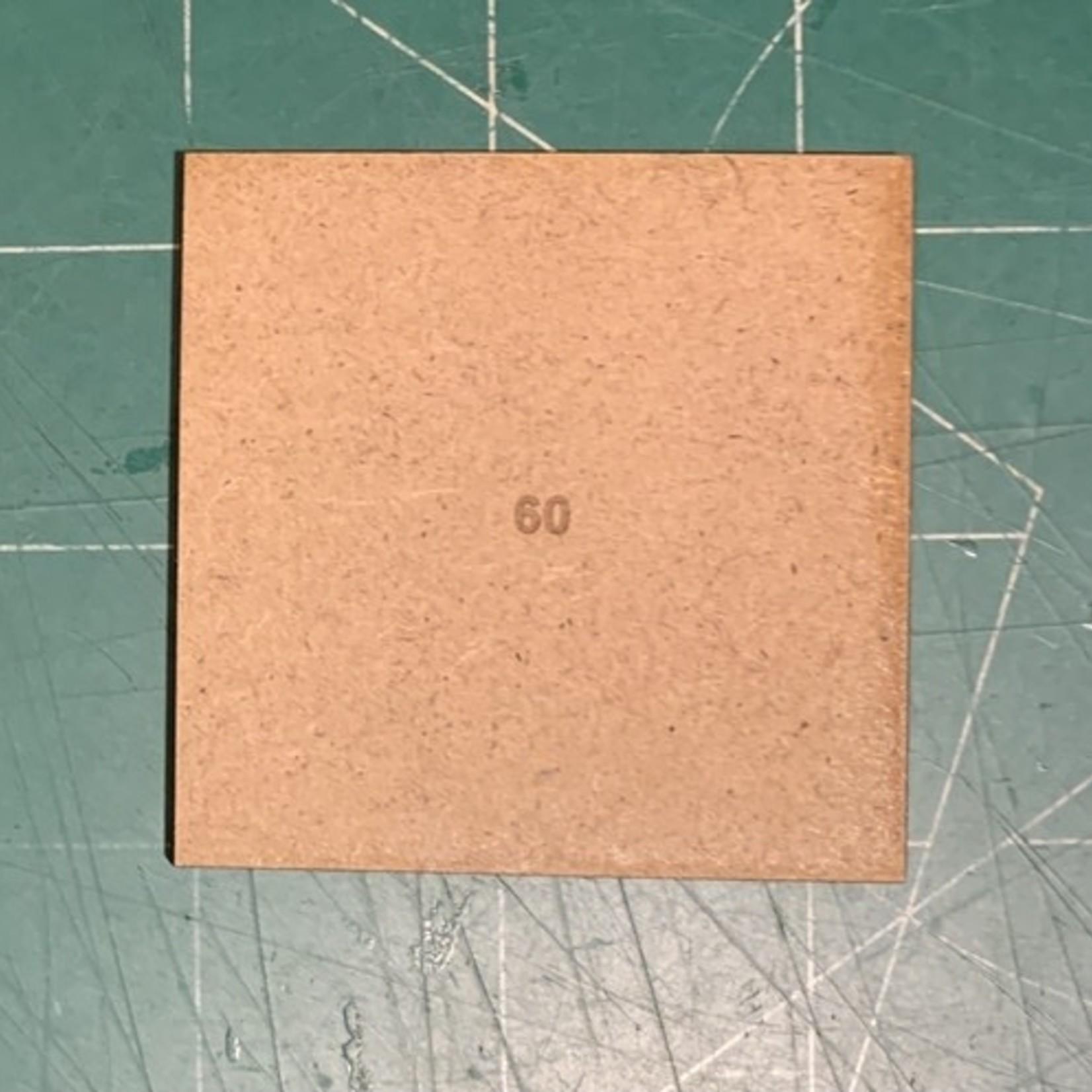 Square 60mm MDF Bases
