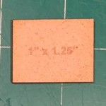 """Rectangle 1"""" x 1.25"""" MDF Bases"""