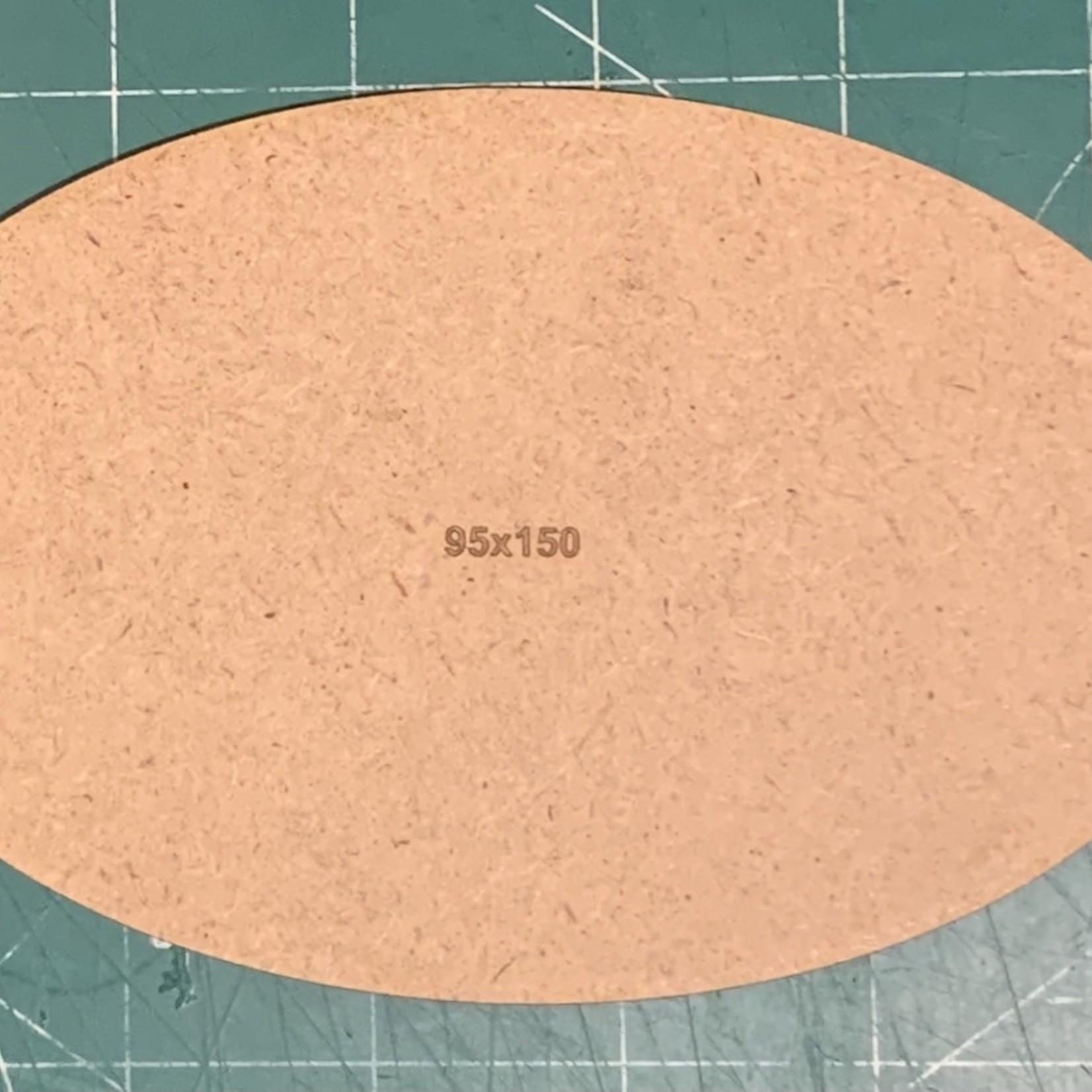 Oval 95 x 150mm MDF Base (x1)
