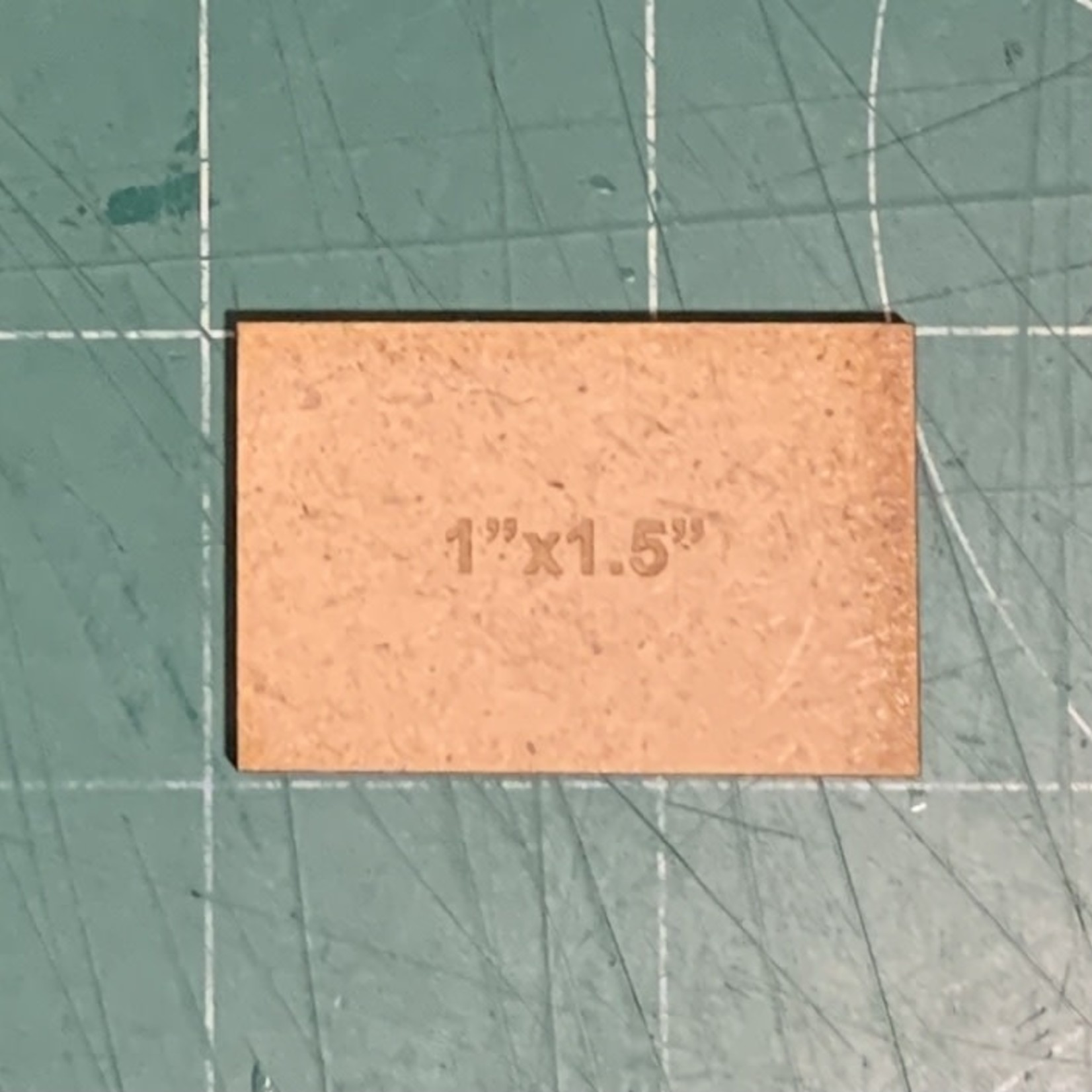 """Rectangle 1"""" x 1.5"""" MDF Bases"""
