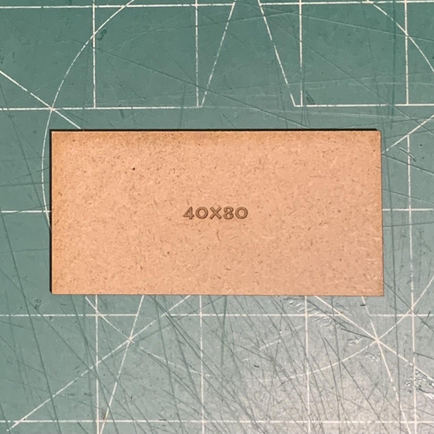 Rectangle 40 x 80mm MDF Bases