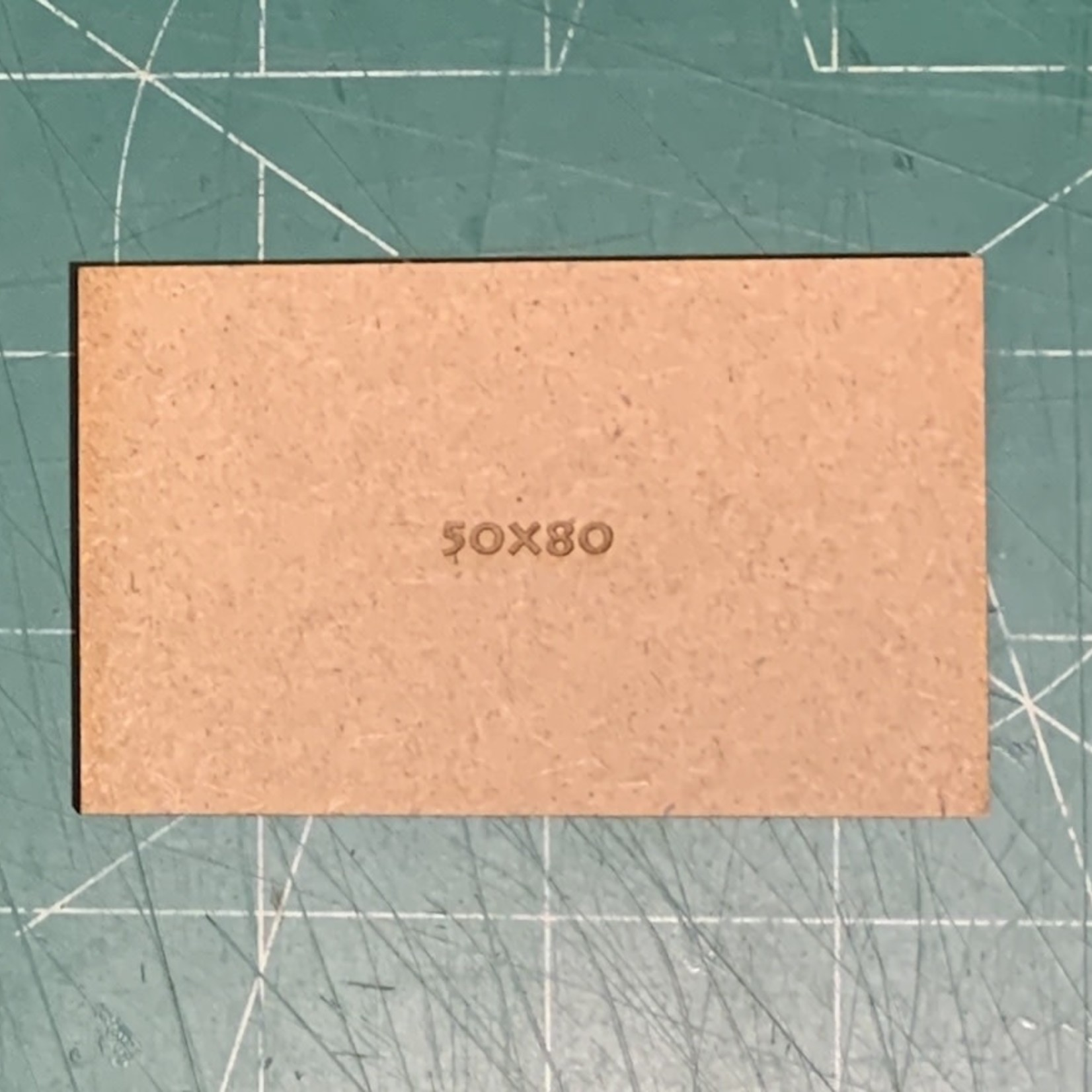 Rectangle 50 x 80mm MDF Bases