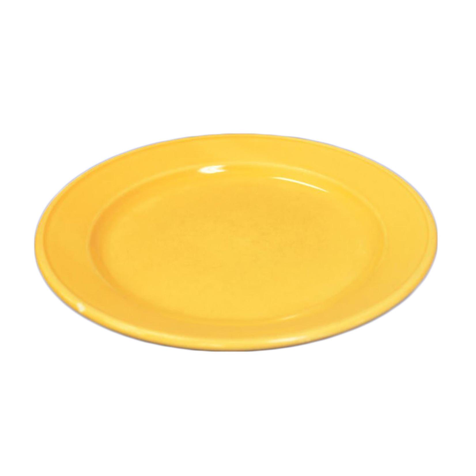 Pale Yellow Ceramic Plate