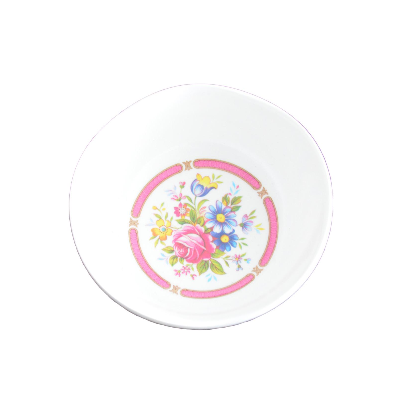 Floral Glass Sauce Dish